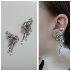 Vintage Kramer of new york 50s rhinestone earrings